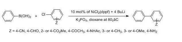 镍催化Suzuki偶联反应