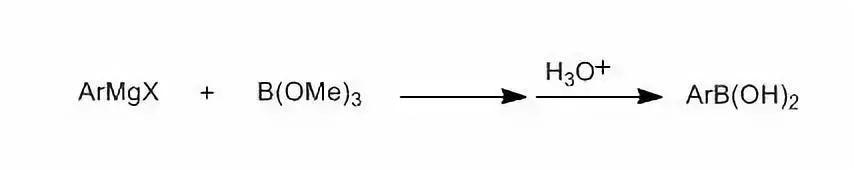 金属有机试剂制备单取代芳基硼酸