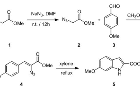 叠氮基-3- 芳基丙烯酸酯环合合成 2- 羧酸吲哚衍生物
